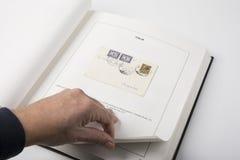 Vieille collection de timbres Photo libre de droits