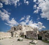 Vieille colline romaine de citadelle de la capitale Amman de la Jordanie Image libre de droits