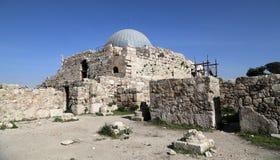 Vieille colline romaine de citadelle de la capitale Amman de la Jordanie Photo libre de droits