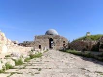 Vieille colline romaine de citadelle de la capitale Amman de la Jordanie Photos stock