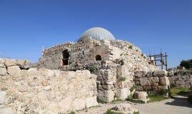 Vieille colline romaine de citadelle de la capitale Amman de la Jordanie Images stock