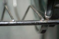 Vieille conception de pièce en métal de la porte dans l'objet d'intérieur de maison Photographie stock libre de droits