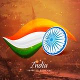 Vieille conception indienne de papier de vecteur de drapeau Image libre de droits