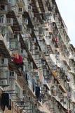 Vieille construction à Hong Kong Photographie stock libre de droits