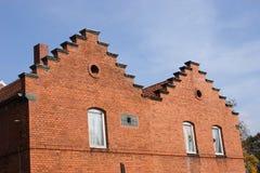 Vieille construction d'usine Image libre de droits