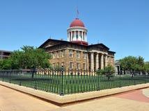 Vieille construction de capitol, Springfield, IL Image stock