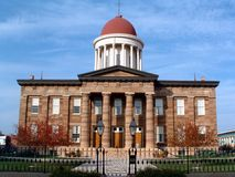 Vieille construction de capitol, Springfield, mauvais Photos stock