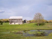Vieille construction de grange Photographie stock libre de droits