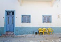 Vieille construction de Santorini Photos libres de droits