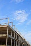 Vieille construction de toit de fer Image stock