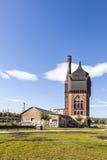 Vieille construction historique de watertower des briques à Wiesbaden Photographie stock libre de droits