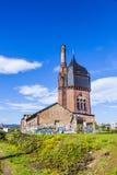 Vieille construction historique de watertower des briques à Wiesbaden Image stock