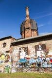 Vieille construction historique de watertower des briques à Wiesbaden Photo libre de droits