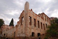 Vieille construction ruinée Image libre de droits