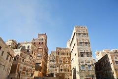 Vieille construction yéménite à Sanaa Photo libre de droits