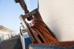 Vieille corde rouillée, détail Photo libre de droits