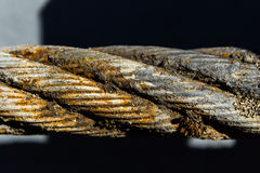 Vieille corde rouillée de fil d'acier Photos libres de droits