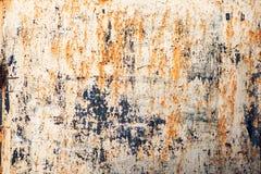 Vieille couleur de plaque métallique rouillée de fond, bleue et orange photos libres de droits