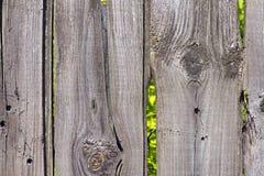 Vieille couleur en bois de gris de barrière Photo stock
