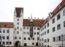 Vieille cour à Munich, Allemagne Ancienne résidence de Louis IV image libre de droits