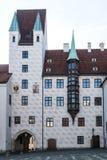 Vieille cour à Munich, Allemagne Ancienne résidence de Louis IV photos libres de droits
