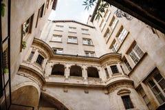 Vieille cour de Lyon, France Photo stock