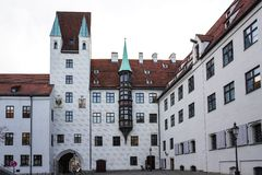 Vieille cour ? Munich, Allemagne Ancienne r?sidence de Louis IV photos stock