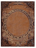 Vieille couverture de livre brune Image stock