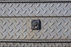 Vieille couverture de service en acier extérieure avec l'électrodéposition de diamant Photo stock