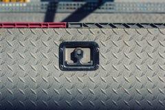 Vieille couverture de service en acier extérieure avec l'électrodéposition de diamant Image libre de droits