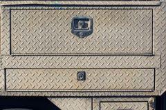 Vieille couverture de service en acier extérieure avec l'électrodéposition de diamant Images stock