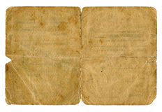 Vieille couverture sale de document. Images libres de droits