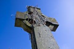 Vieille croix celtique à Belfast Photographie stock libre de droits