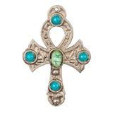 Vieille croix d'Egyptien en métal photos stock