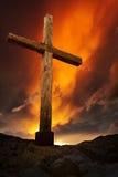 Vieille croix en bois Image stock
