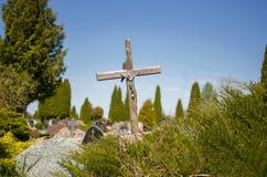 Vieille croix en bois Photo stock