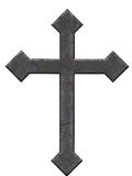 Vieille croix en pierre Photo stock