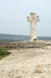 Vieille croix orthodoxe moldavienne dans Orhei, Moldau image libre de droits