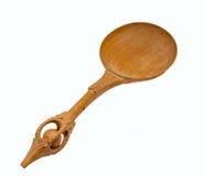 Vieille cuillère en bois Photographie stock