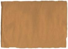 Vieille déchirure de papier brun Images libres de droits