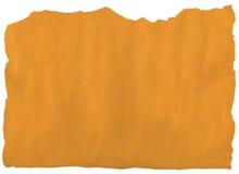 Vieille déchirure de papier jaune Image stock