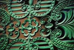 Vieille décoration de cuivre Photographie stock
