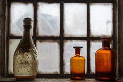 Vieille décoration de fenêtre à Amersfoort Images stock