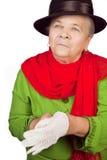 Vieille dame aînée élégante et gant blanc Photo stock