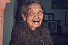 Vieille dame de Hanoï Photographie stock
