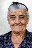 Vieille dame heureuse Photographie stock libre de droits