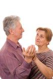 Vieille danse de couples Photo stock