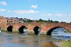 Vieille Dee Bridge, Chester images libres de droits