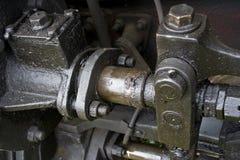 Vieille engine de train Photos stock