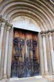 Vieille entrée d'église Photos stock